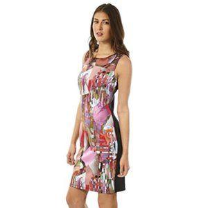 Joseph Ribkoff Abstract Mesh Dress